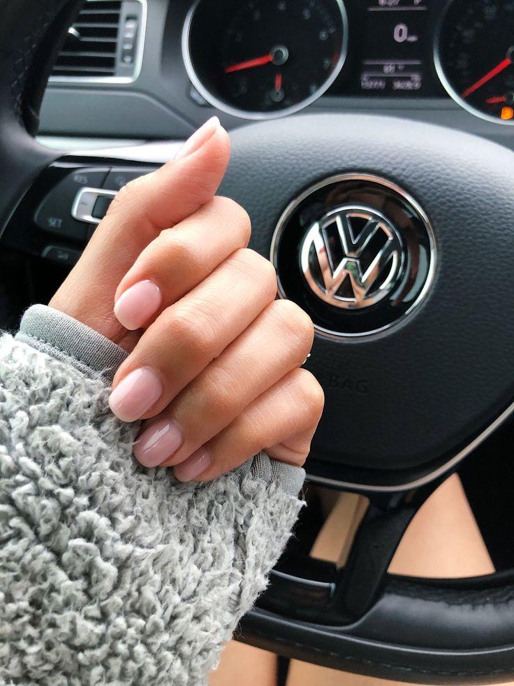 Natural nails. OPI Bubblebath Gel Nails. Shellac. Short nails #gelnailcare