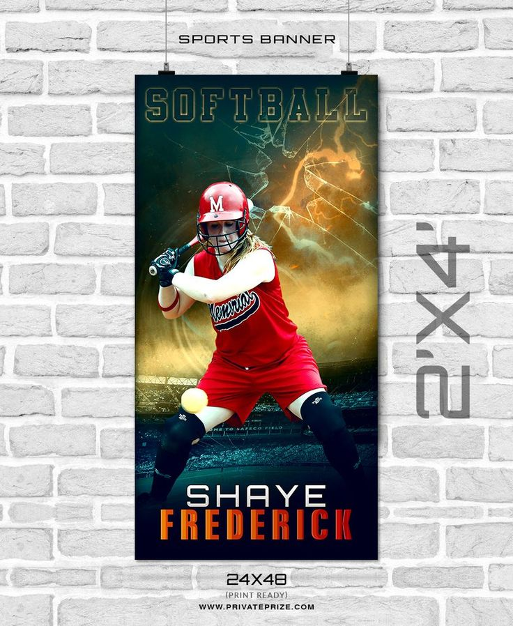 Shaye frederick - Softball Enliven Effects Sports Banner Photoshop Template
