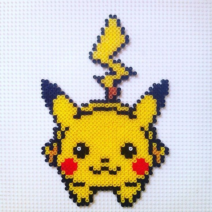 Pikachu hama beads by hadavedre                                                                                                                                                                                 More                                                                                                                                                                                 Más