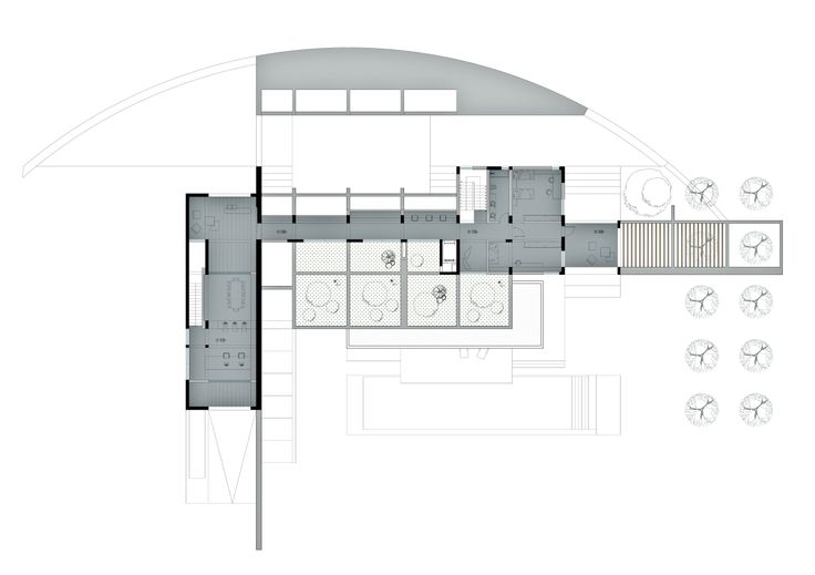 Private Residence_Kardamili, Greece. Main 1st Floor Plan | Phase: City Planning Permition. (2012 - on going)