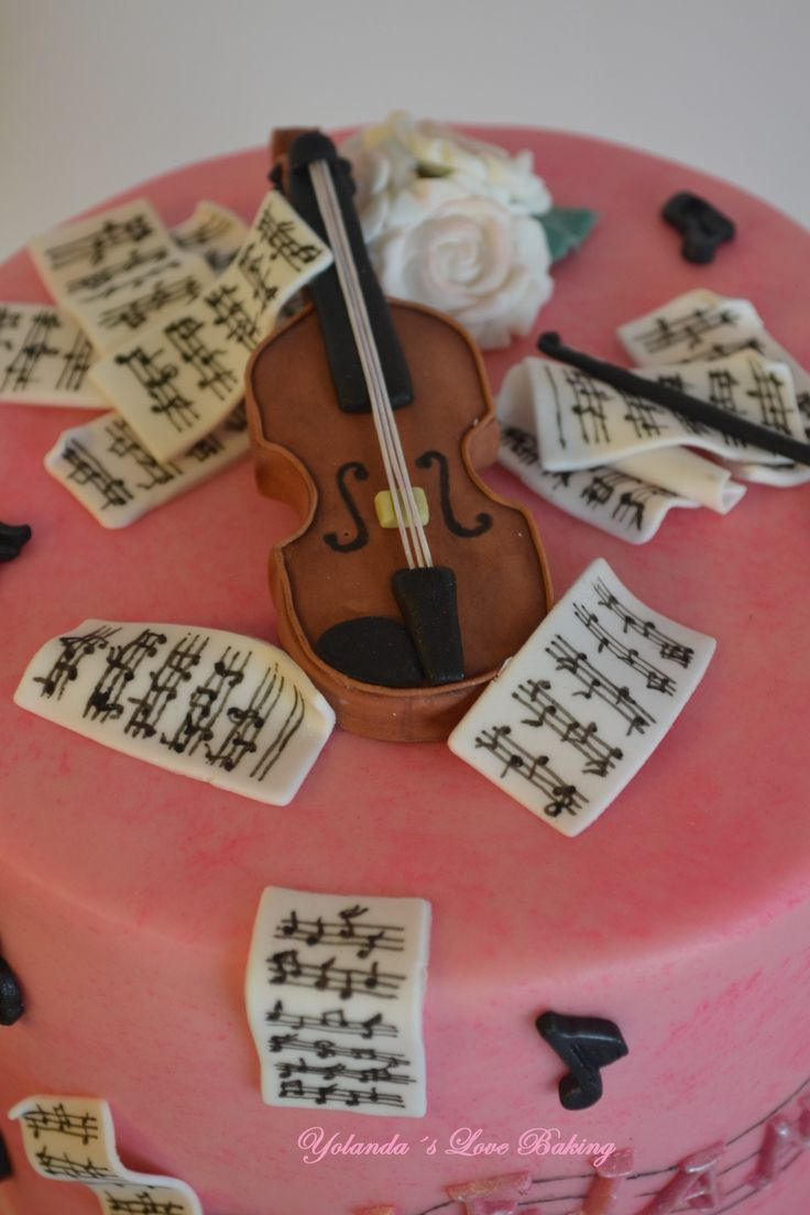 25 best ideas about violin cake on pinterest awesome wm for Violin decorating ideas