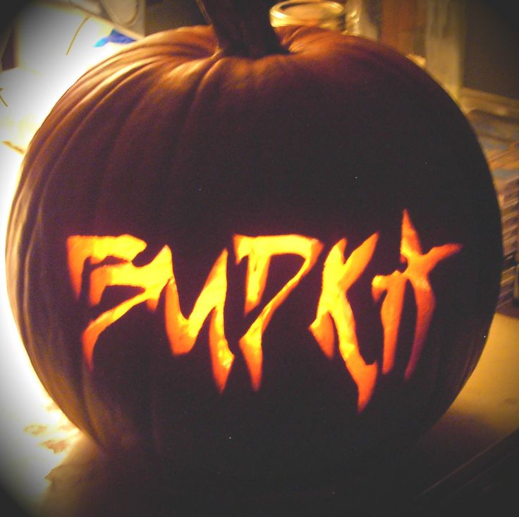 This personalized, family name pumpkin stencil was dead easy to create. I used Microsoft WORD, chiller font, but you could use any word processing software and the creepiest font you can find. Size it to fit your pumpkin, tape it on and carve away! www.michelebudka.com