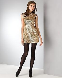 Tights evening dress