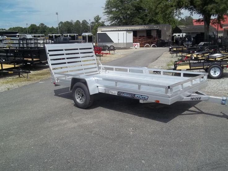 edge series aluma trailer with side rails 78 x 12 7812 ES aluminum utility trailer
