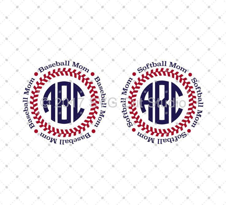 Baseball Softball Mom SVG Cut Files | Crafts | Svg cuts ...
