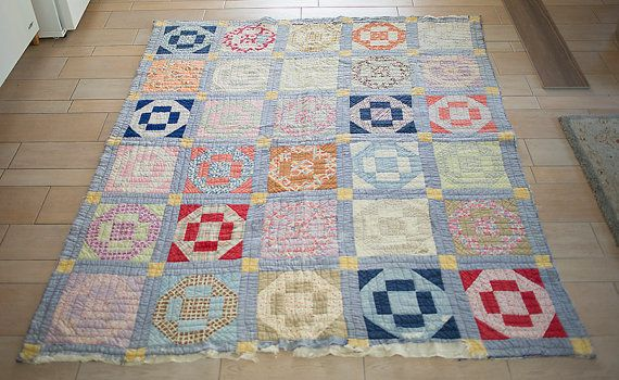 Gorgeous Antique Vintage Quilt by PatchworkPerfection on Etsy