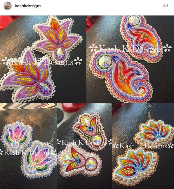 Beaded earrings by Kash Designs