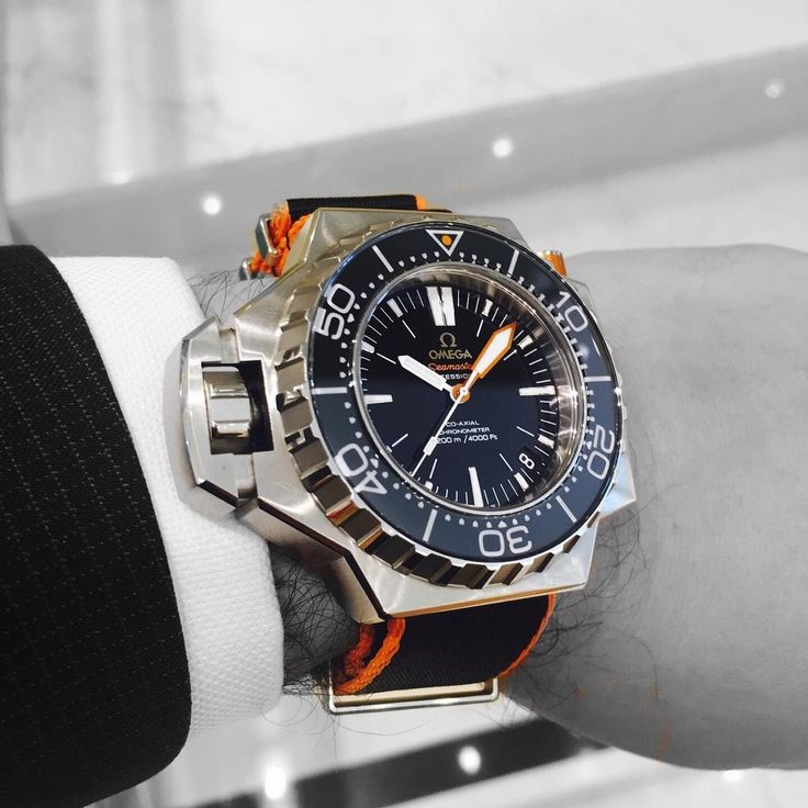"""Ever see a nato strap on a Omega Ploprof? no? Neither have we, """"Orange"""" you glad we did this for you."""