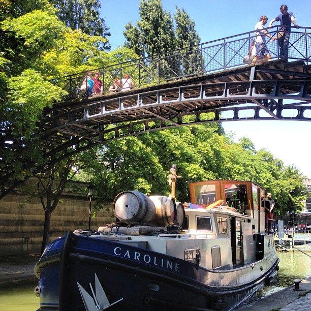 Canal Saint-Martin, Quai de Loire, Paris 10ème.