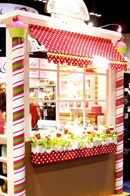 Adorable Candy Shop Styled Booth – I'm seeing this as a decorated door or classroom bulletin board!