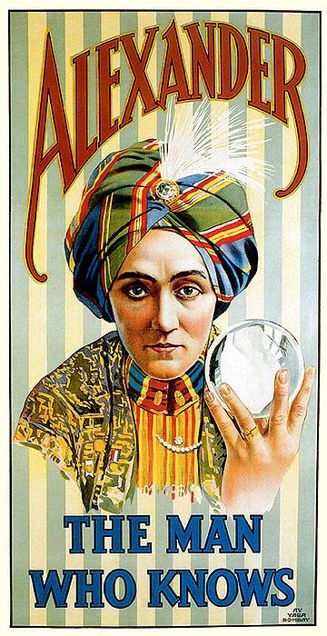 Poster for magician Alexander (Claude Conlin)