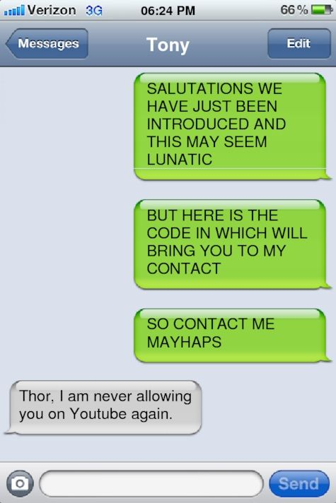 Thor learns about memes