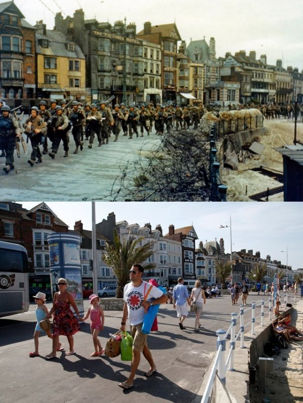 Photos Of D-Day Locations In Normandy Then And Now