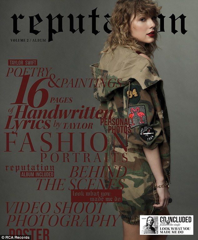 Cover girl: Taylor Swift released her first single in two years titled Look What You Made Me Do on Thursday night as it seemingly addresses a leaked phone call