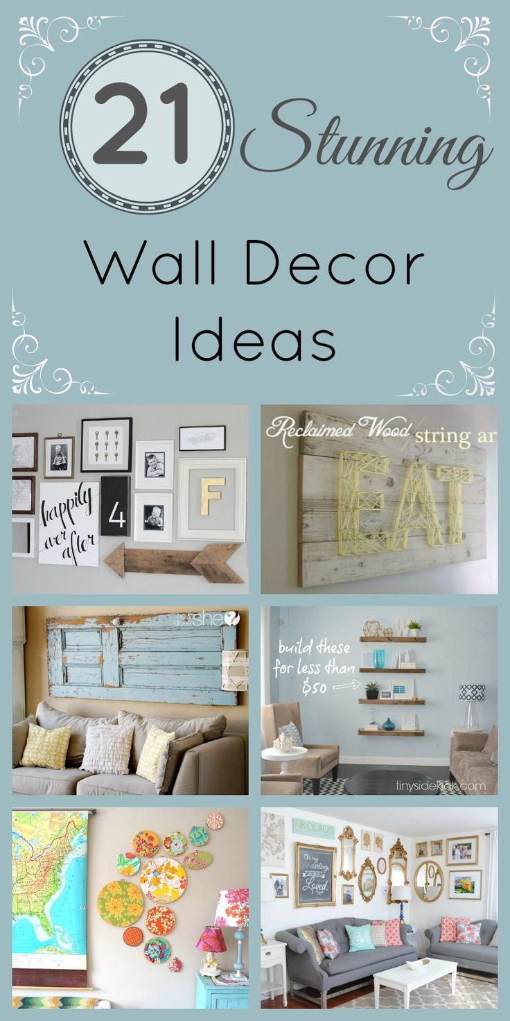 Best 25 wall decorations ideas on pinterest living room wall 21 stunning wall decor ideas amipublicfo Image collections