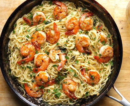 SHRIMP SCAMPI WITH PASTA – cookingfun #dinner#yummy recicipes#easy recipes#cake#…