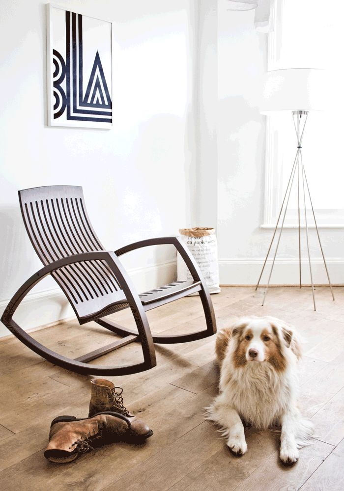 """voted """"best 10 rocking chairs"""" by Living Etc. - I don't even like to rock, but this is eye candy. love the lines."""