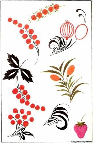 элементы петриковской росписи