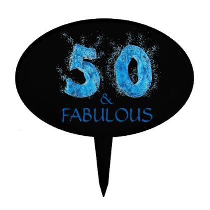 50 and Fabulous Swimmer Swimming Pool Birthday Cake Topper - decor gifts diy home & living cyo giftidea