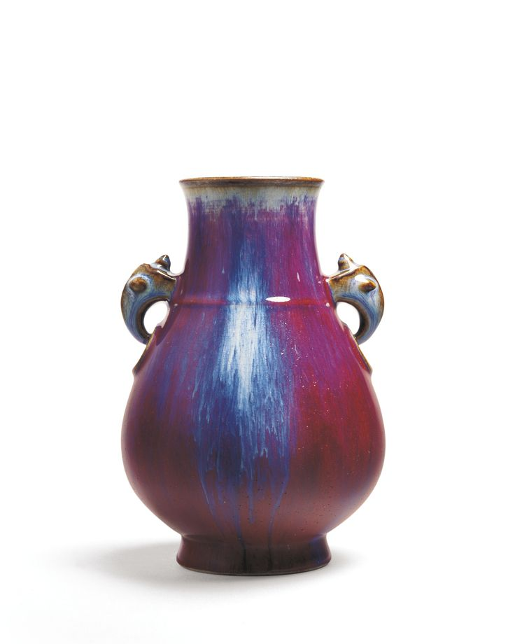 A FLAMBE-GLAZED VASE WITH HANDLES<br>SEAL MARK AND PERIOD OF YONGZHENG | Lot | Sotheby's