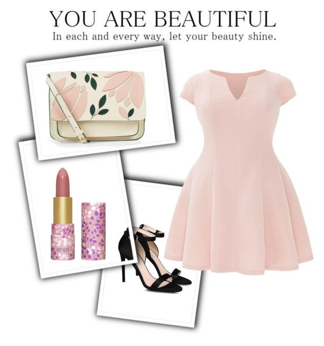 """""""Spring date"""" by craneberries on Polyvore featuring Accessorize, tarte, STELLA McCARTNEY, Julia Jordan and plus size dresses"""