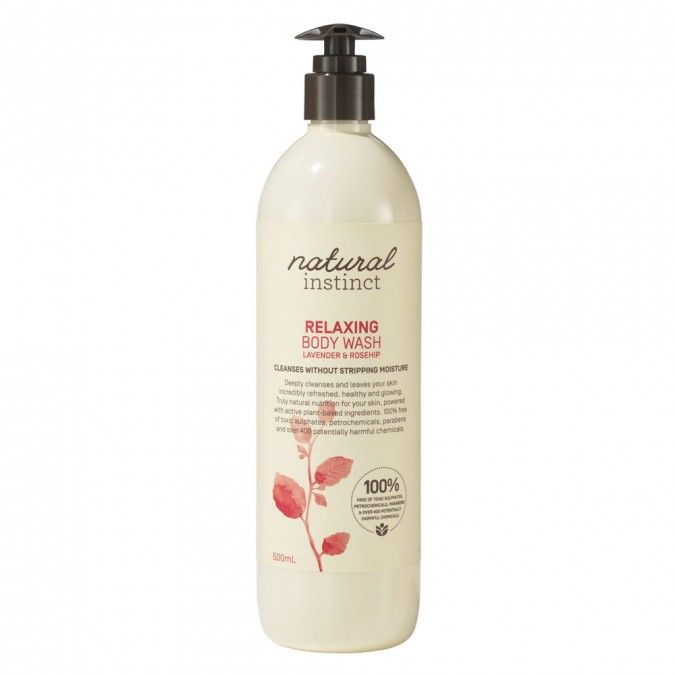 Natural Instinct Relaxing Body Wash with Lavender & Rosehip 500 mL $12.29