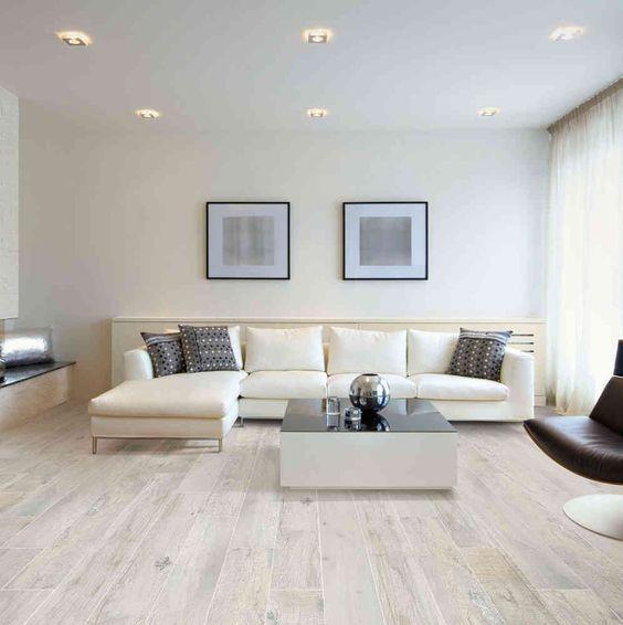 Carrelage imitation parquet Wood Memory White