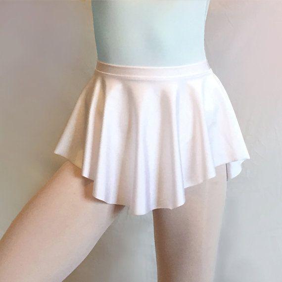 Classic White Lycra/ Spandex Ballet Dance by RoyallDancewear