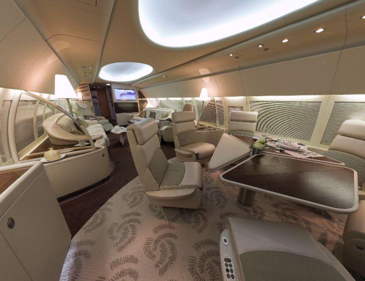 Luxury Private Jet Interior
