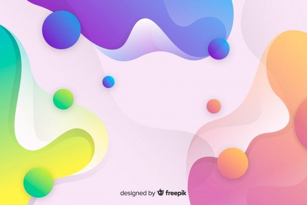 Abstract Colorful Flow Shapes Background Free Vector Freepik