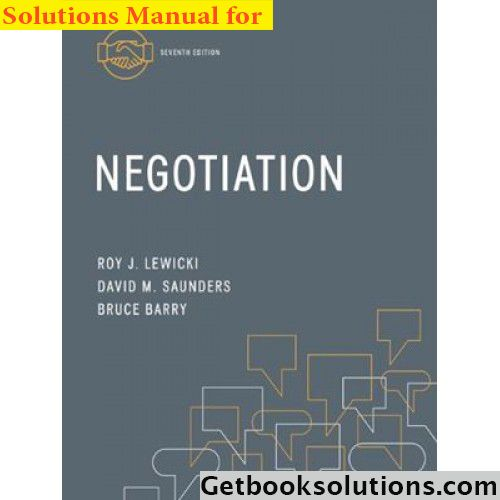21 best solution manual images on pinterest manual textbook and solution manual for negotiation 7th edition by lewicki saunders and barry fandeluxe Image collections