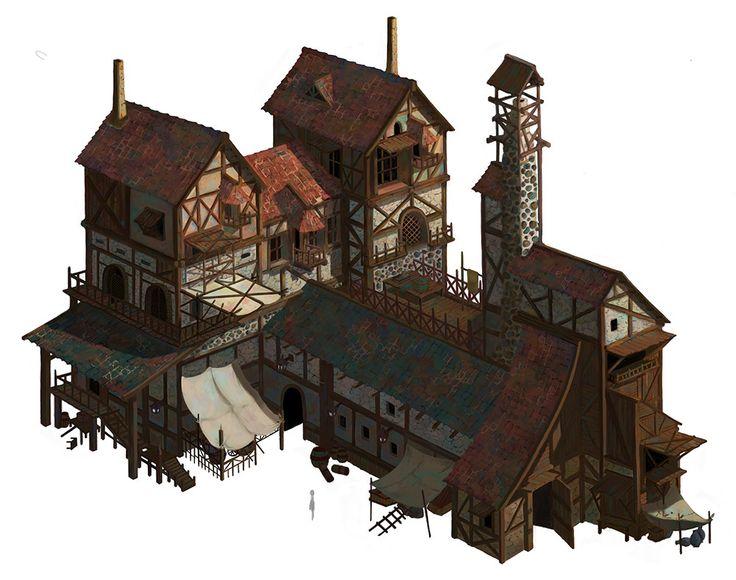 576 best fantasy buildings interiors images on pinterest for Art house building design