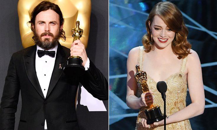 Emma Stone y Cassey Affleck Oscars 2017