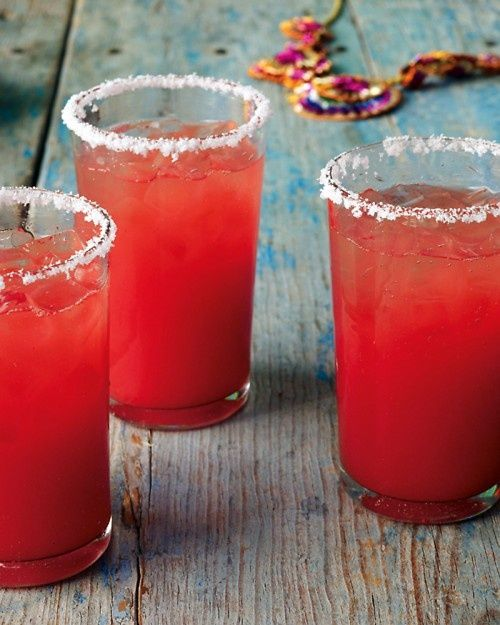 Summer drinks , watermelon maragaritas <3