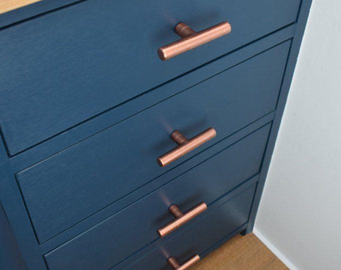 Modern Proper Copper Pull Contemporary Copper Drawer Handle