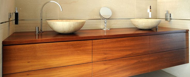 timber vanity units contemporary bathroom - Google Search Bathrooms Pinterest Contemporary ...