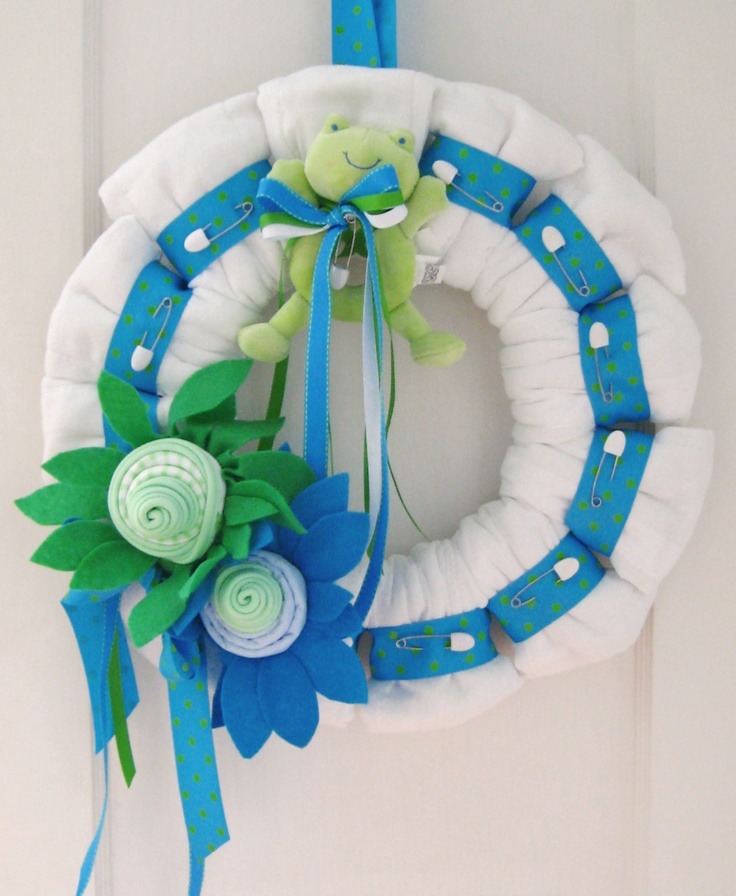 Baby Shower Wreath Instructions: 1000+ Images About Baby Shower Wreaths On Pinterest