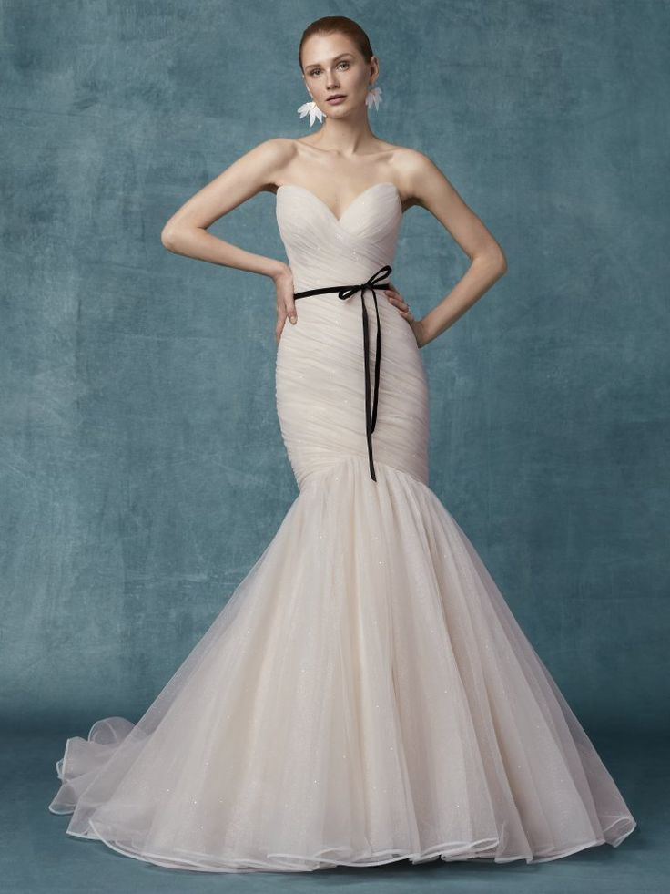 Sweetheart Neckline Ruched Bodice Fit And Flare Wedding Dress