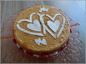 Le sponge cake aux fraises