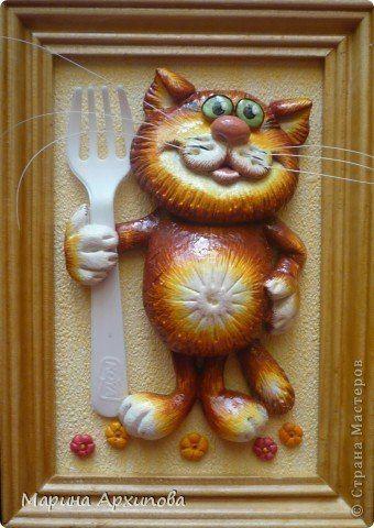 Котик из соленого теста.. Обсуждение на LiveInternet - Российский Сервис Онлайн-Дневников