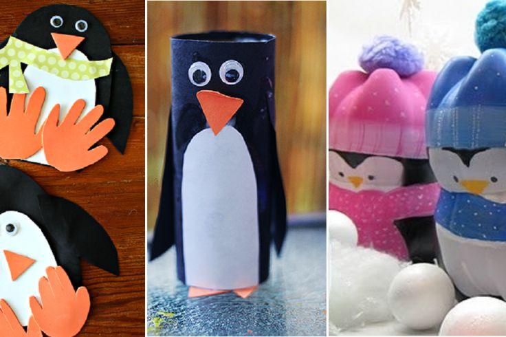 15 Modèles de pingouins à bricoler avec les enfants!