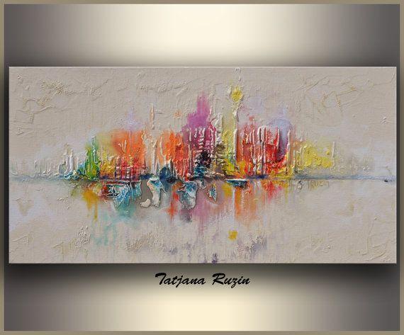 Skyline Abstract painting by Tatjana Ruzin