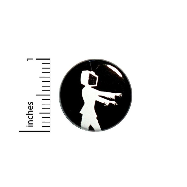 """Amazon.com : Funny Button TV Head Streaming Vintage Style Cool Zombie Jacket Pin 1"""" #40-15 : Everything Else"""