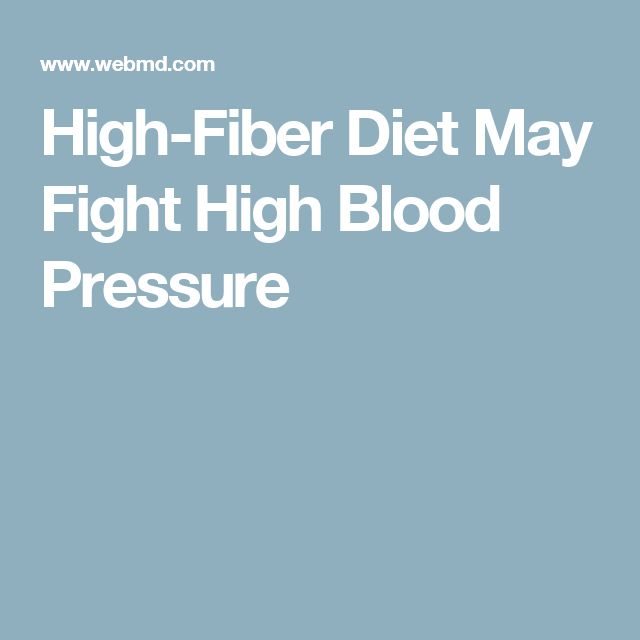 High-Fiber Diet May Fight High Blood Pressure