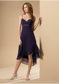 paarse korte bruidsmeisje jurk