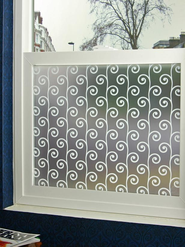 Pretty and Private - Designer window film creates privacy. BedBathandBeyond has it cheaper! Home Depot has the best design collection!