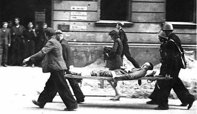 The Warsaw Ghetto Uprising was the 1943 act of Jewish resistance that arose within the Warsaw Ghetto in German-occupied Poland during World War II and which opposed Nazi Germany's final effort to transport the remaining Ghetto population to Treblinka extermination camp. The uprising started on 19 April when the Ghetto refused to surrender to the police commander SS-Brigadeführer Jürgen Stroop who then ordered the burning of the Ghetto block by block ending on 16 May. 13000 Jews died about…