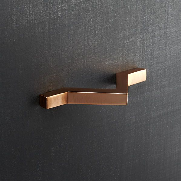 chevron copper drawer pull