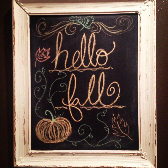 Blackboard Artwork Ideas: Fall Chalkboard Art:)