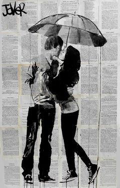 "Saatchi Online Artist Loui Jover; Drawing, ""under the umbrella"" #art"